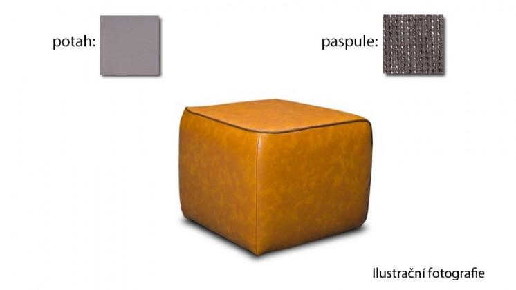 Taburet Case - (k:platin rock C129, sk. 2s/m:puls platinum D257, sk. 2s)
