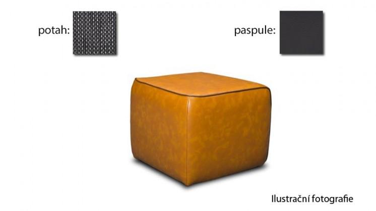 Taburet Case - (k:puls black D209, sk. 2s/m:platin grey C121, sk. 2s)