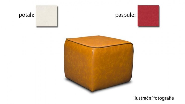 Taburet Case - (k:pulse - red D205,sk.2s/m:pulse - cream D211,sk.2s)