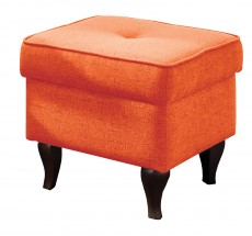 Taburet Flo čtverec oranžová - II. jakost