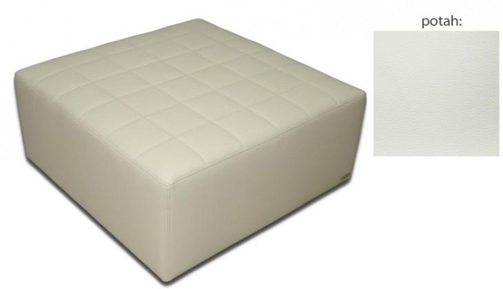 Taburet Taburet čtvercový (extraleather white)
