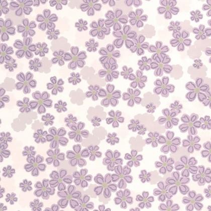 Tapeta 20-614 (krémová/fialová)