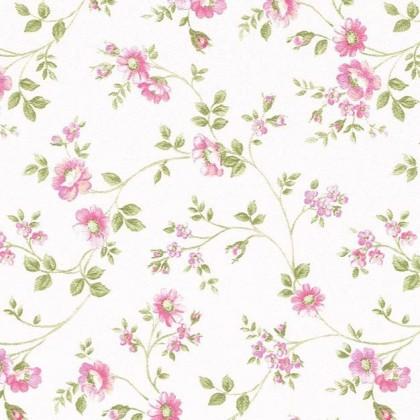 Tapeta 624-2 (bílá/růžová, zelená)