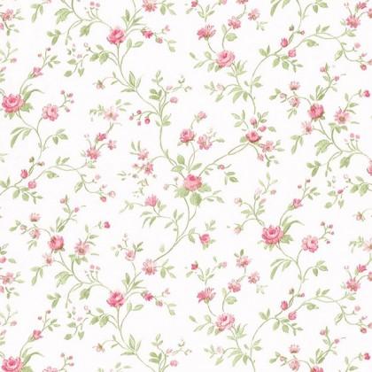 Tapeta 625-2 (bílá/zelená, růžová)