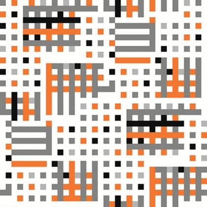 Tapeta J134-05 (bílá/šedá, oranžová)