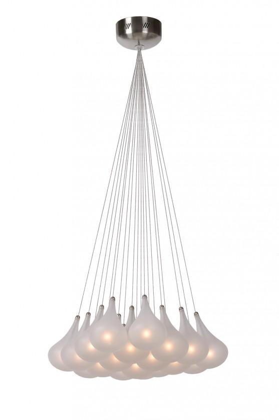 Tears - stropní osvětlení, 10W, 19xG4 (stříbrná)