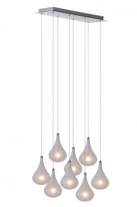 Tears - stropní osvětlení, 20W, 8xG4 (stříbrná)