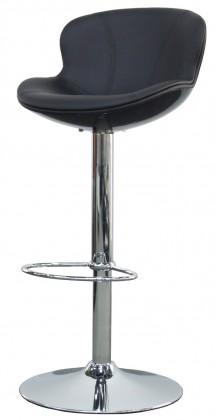 Tequila - Barová židle (bílá, eko kůže černá)