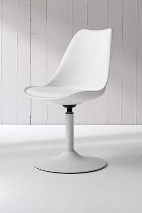 Tequila - Jídelní židle (bílá, eko kůže bílá)