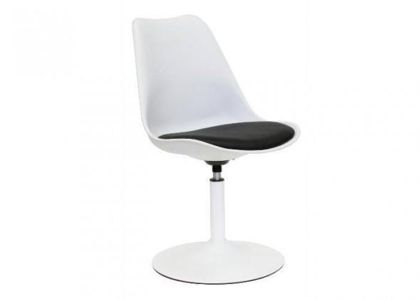 Tequila - Jídelní židle (bílá, eko kůže černá)