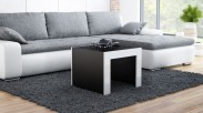 Tess - Konferenční stolek čtvercový (černá, bílá)