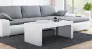 Tess - Konferenční stolek obdélníkový (bílá)
