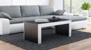 Tess - Konferenční stolek obdélníkový (černá, bílá)