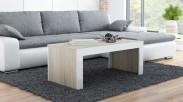 Tess - Konferenční stolek obdélníkový (dub, bílá)