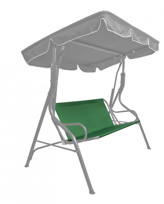 Textilní sedák na houpačku (zelená)
