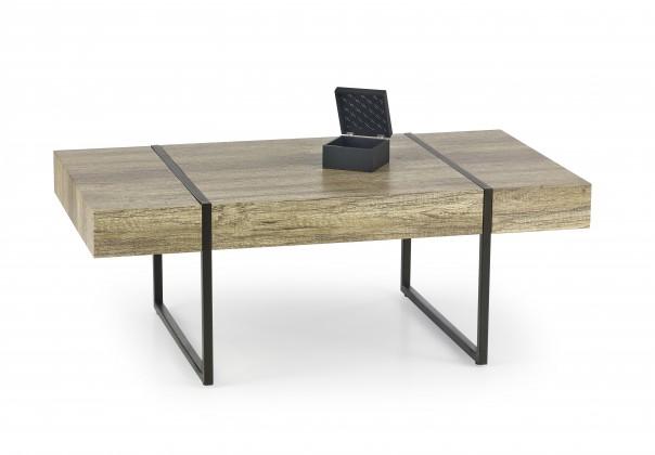Tiffany - konferenční stolek dub, černý (dub žíhaný/černá)
