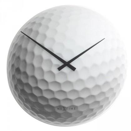 Tiger - hodiny, nástěnné, kulaté (sklo, bílé)