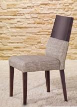 Timoteo - Jídelní židle (wenge/šedá)