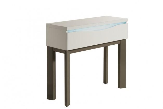 Toaletní stolek Almera - Toaletní stolek (bílá/šedá)