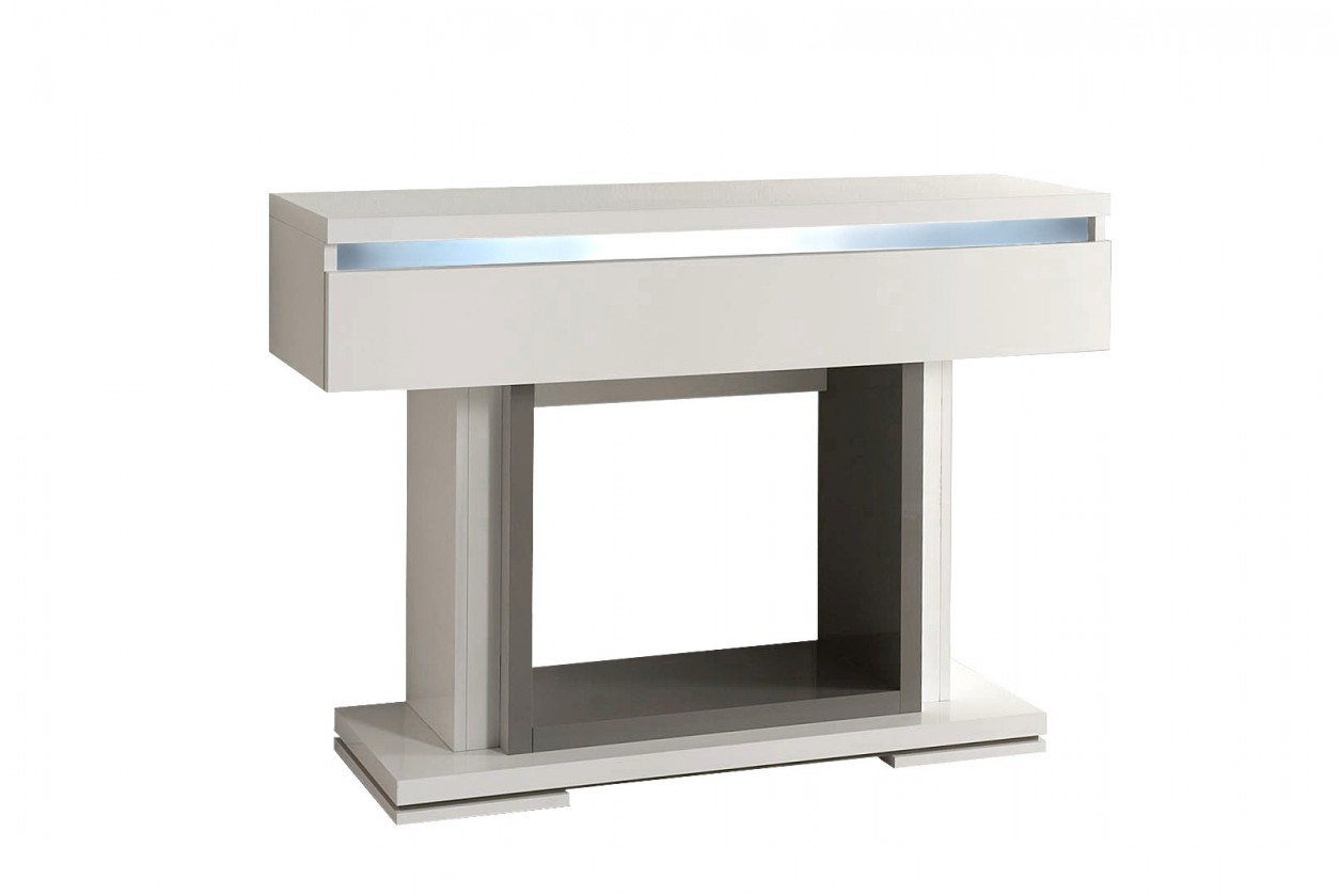 Toaletní stolek Rimini - Toaletní stolek (tmavě šedá/bílá)