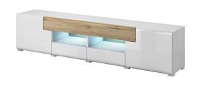 Toledo - TV stolek velký (bílá, dub san remo)