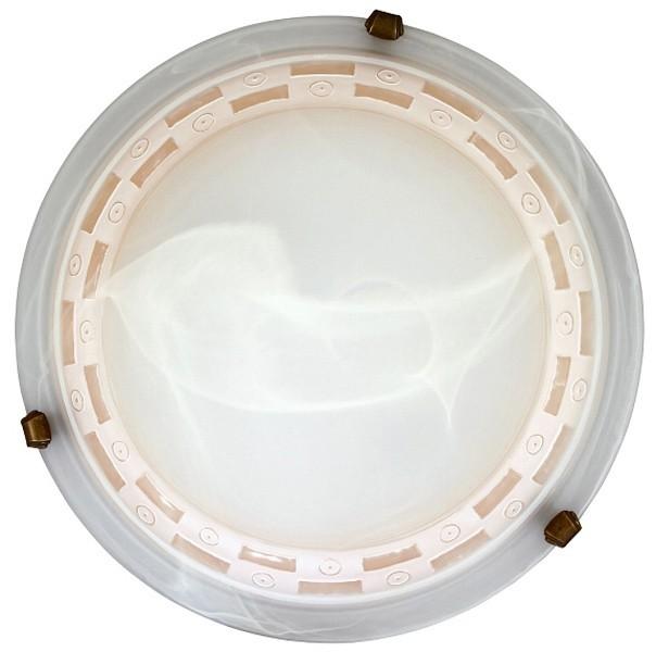 Tom - Nástěnná svítidla, E27 (vzorkovaná alabastrová/bronzová )