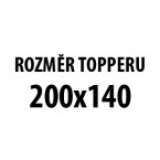 TOPPER VISCO H5 140x200x6, potah Silver