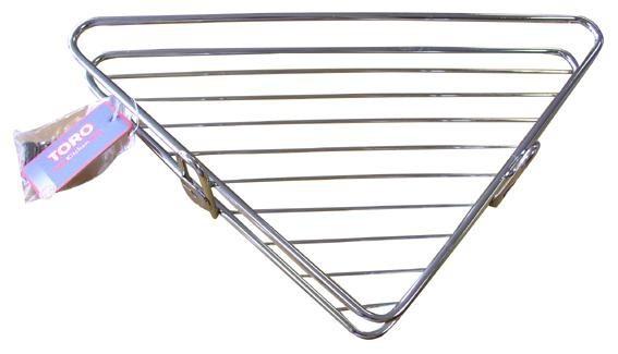 Toro - polička rohová, koupelnová, 34x25 cm (pochromovaný kov)