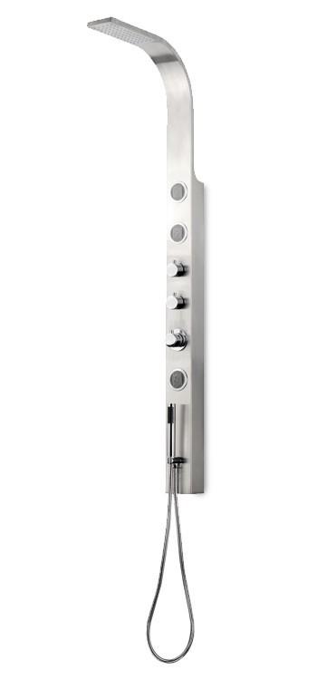 Toscano 051k  Sprchový hydromasážní panel (ocel,lesk)