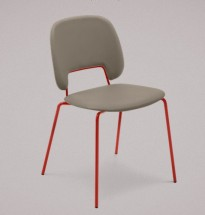 Traffic - Jídelní židle (lak červený matný, plast pískový)