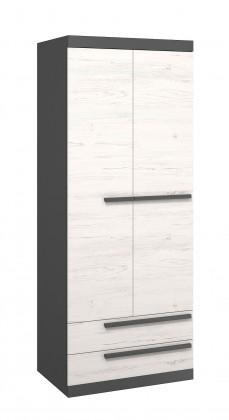 Trend - Skříň, 80cm (grafit, borovice andersen)