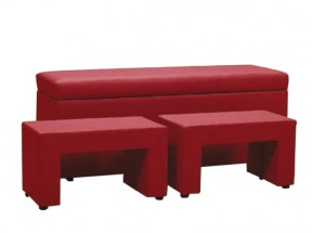 TRIPLE + NIGHT STANDS (red, sk. V)