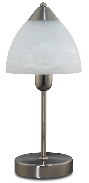 Tristan - Lampička, E14 (chromová/bílá alabastrová)