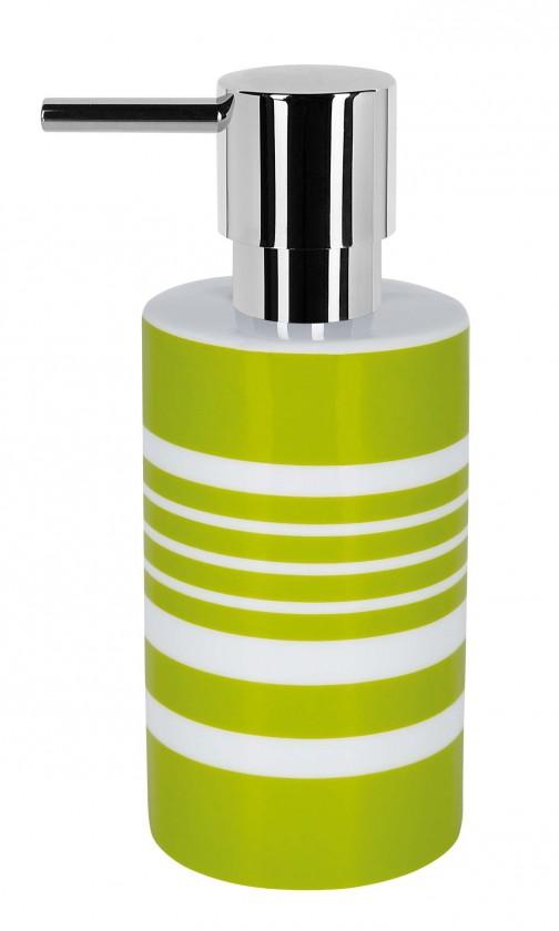 Tube-Dávkovač mýdla STRIPE(bílá,zelená)