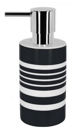 Tube-Dávkovač mýdla STRIPES(bílá,černá)