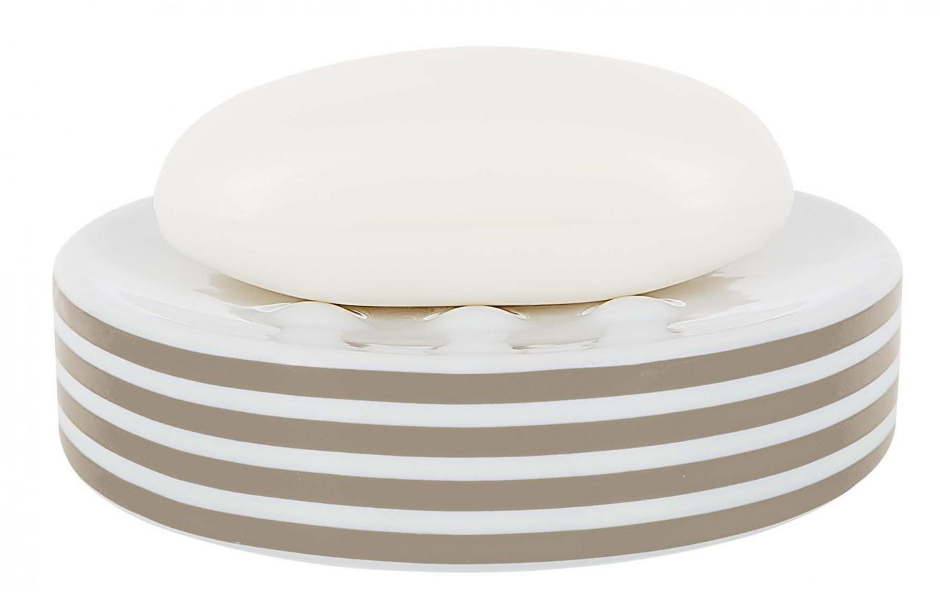 Tube-Mýdlenka  STRIPES taupe(bílá,šedá)