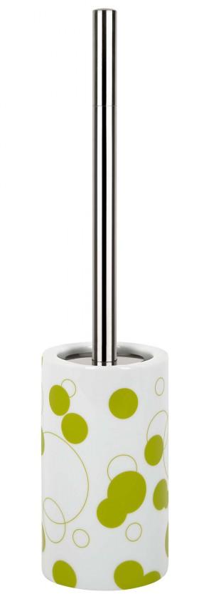 Tube-WC štětka  Bubbles kiwi(bílá,zelená)