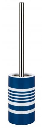 Tube-WC štětka STRIPES blue(bílá,modrá)