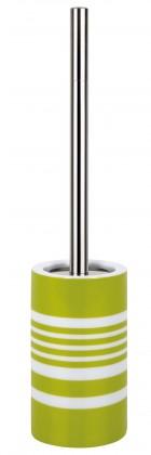 Tube-WC štětka STRIPES green(bílá,zelená)