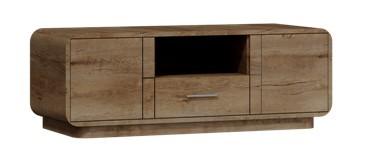 TV, Hifi stolek  - dřevěný Acerro - RTV stolek (dub lefkas)