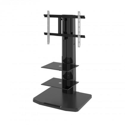 TV, Hifi stolek  - dřevěný Alladyn - TV stolek s držákem (černá)
