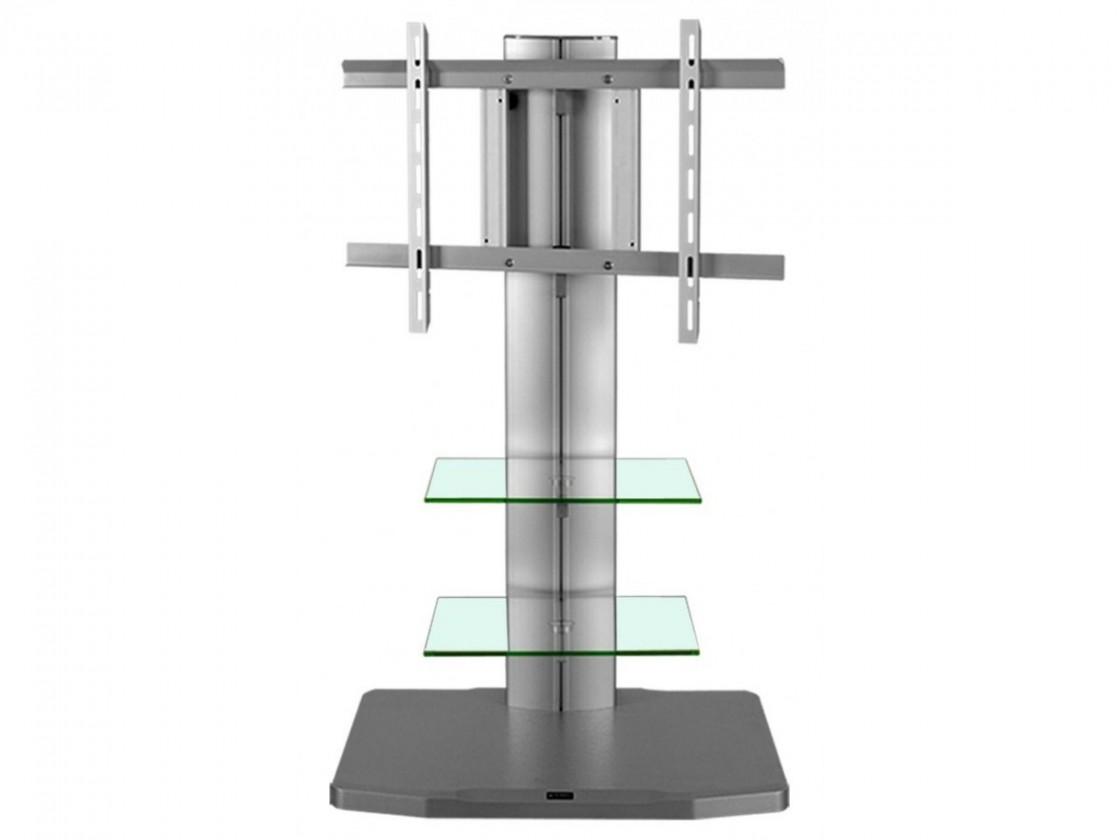 TV, Hifi stolek  - dřevěný Alladyn - TV stolek s držákem (stříbrná)