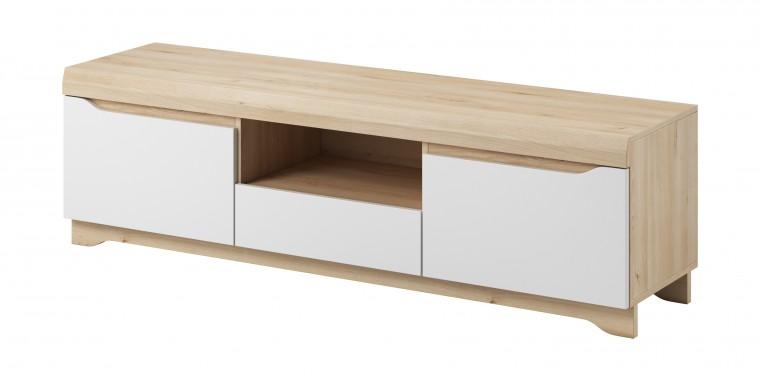 TV, Hifi stolek  - dřevěný Avallon - TV stolek (buk ibsen/bílá)