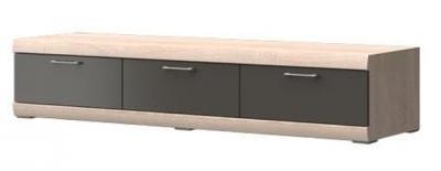 TV, Hifi stolek  - dřevěný Baira Typ 09 (Dub Bardolino/Grafit VL)