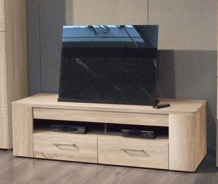 TV, Hifi stolek  - dřevěný Belmondo BLDT12 (Dub Sonoma)