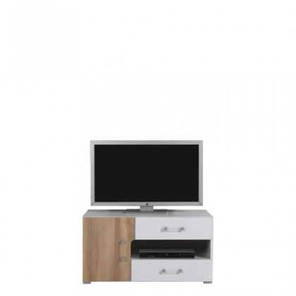 TV, Hifi stolek  - dřevěný BLOG BL 12 (jilm/bílá lesk/cappucino)