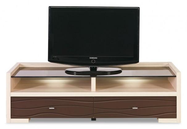 TV, Hifi stolek  - dřevěný Cava - CV 2, TV stolek (thuje/metalic bronz)