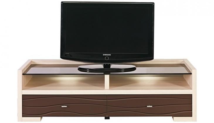 TV, Hifi stolek  - dřevěný CLEVER CV-2 (Thuje/bronz metallic)