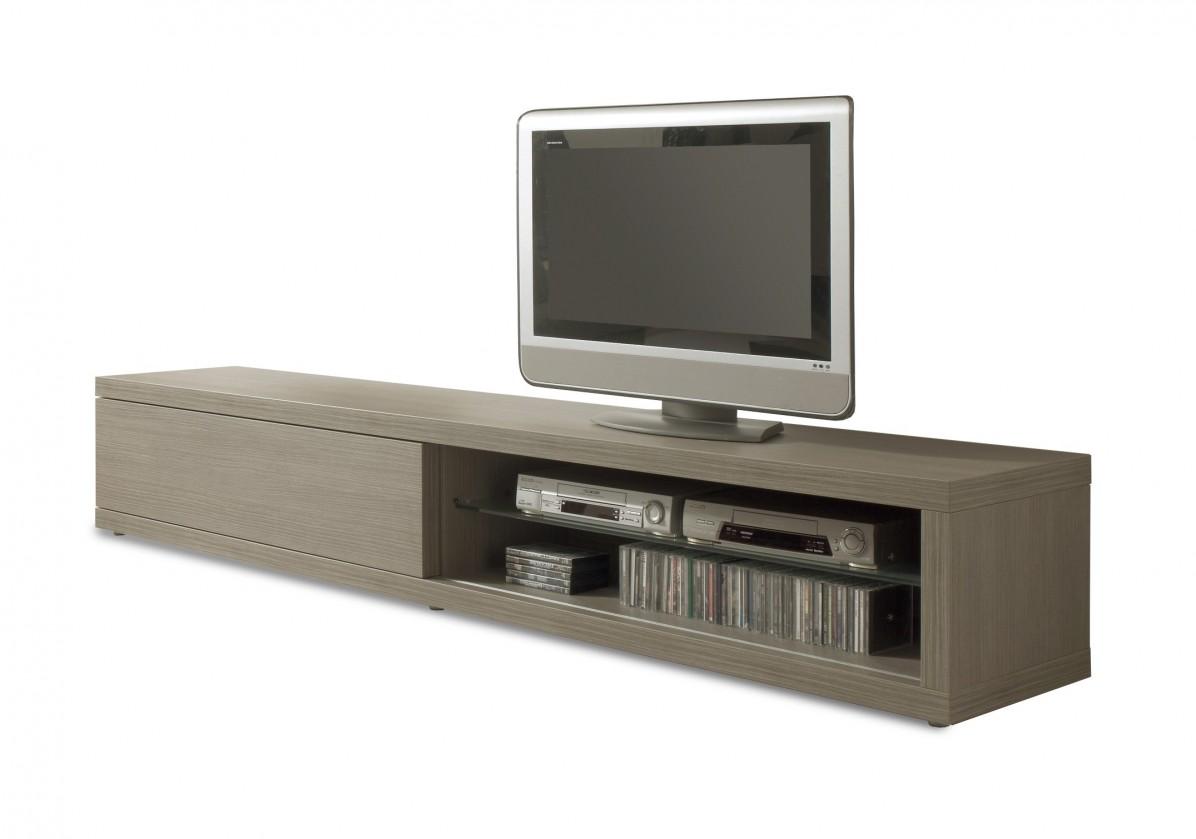 TV, Hifi stolek  - dřevěný Cova - TV element 175 C060 (dub šedý)