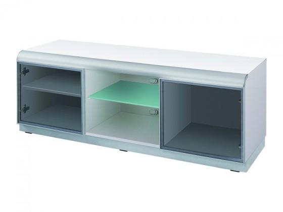 TV, Hifi stolek  - dřevěný Denver - TV stolek (bílá vysoký lesk)